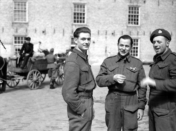 Canadian prisoners-of-war who were liberated from the hospital at Leeuwarden, Netherlands, 16 April 1945.