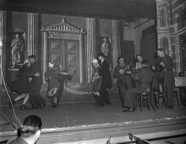 Barn dance act during a concert party staged by The Fort Garry Horse, Doetinchem, Netherlands, 21 November 1945.