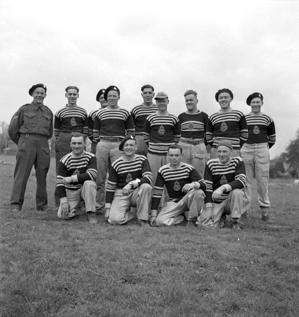 Baseball team of The South Alberta Regiment, England, 1943.