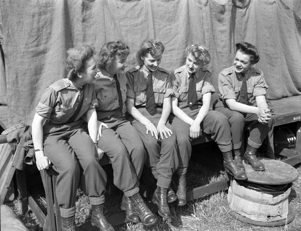 Personnel of the Canadian Women's Army Corps (C.W.A.C.) who are members of the Canadian Army