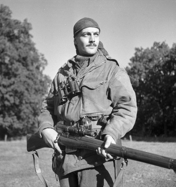 Sergeant H.A. Marshall of the Sniper Section, The Calgary Highlanders, Kapellen, Belgium, 6 October 1944.