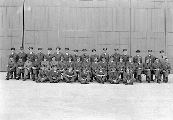 Officers of Royal Canadian Air Force Station Coal Harbour, British Columbia, Canada, 18 September 1942.