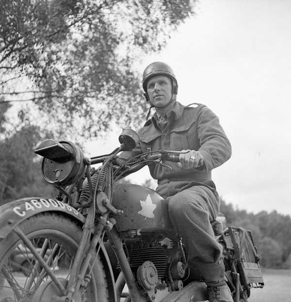 Dr. F. Shaugnessey, an athlete in the 2nd anti-tank regiment, RCA, England, July 1943.
