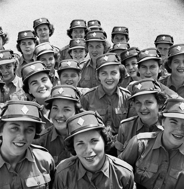 Personnel of the Canadian Women's Army Corps at No. 3 CWAC (Basic) Training Centre.