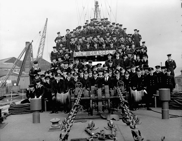 Ship's Company of the frigate H.M.C.S. NEW GLASGOW, Britain, April 1945.