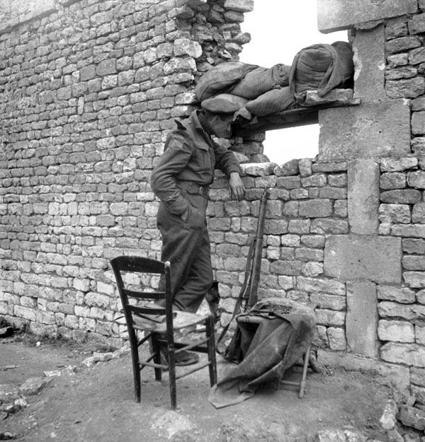 Rifleman G.F. Andrews of The Queen's Own Rifles of Canada, Normandy, France, 20 June 1944.