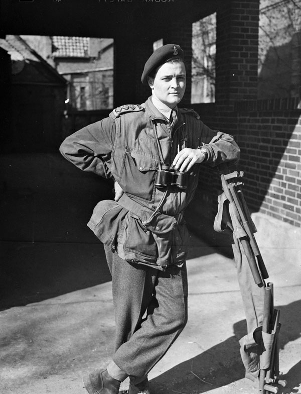 Captain P.G. Costigan of the 1st Canadian Parachute Battalion, Brelingen, Germany, 12 April 1945.