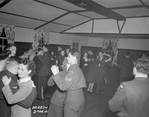 Dance at the opening of the Women's Division Lounge, R.C.A.F. Station Gander, Newfoundland, 3 March 1945.