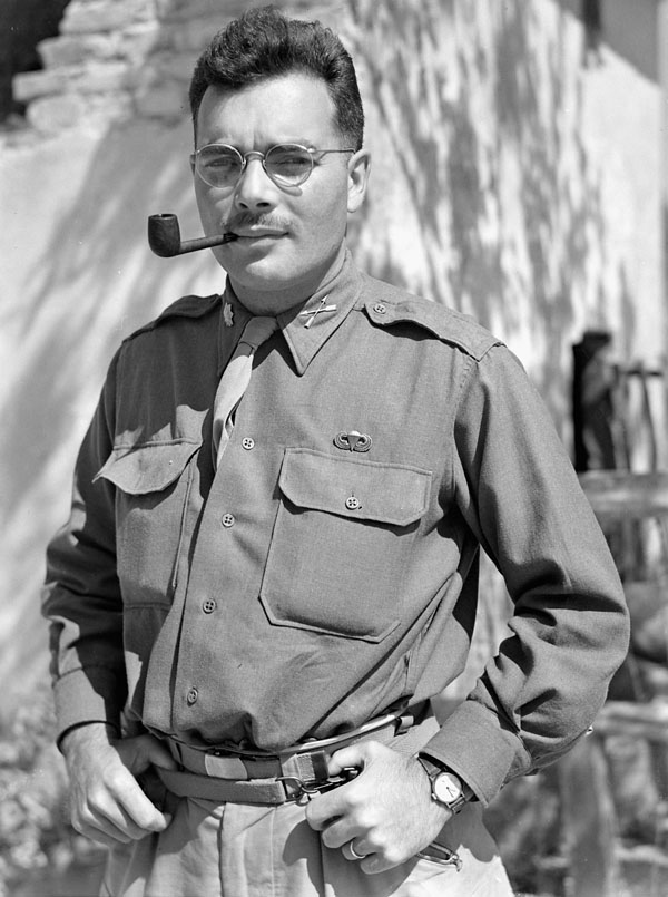 An unidentified major of the First Special Service Force, Anzio beachhead, Italy, ca. 20-27 April 1944.