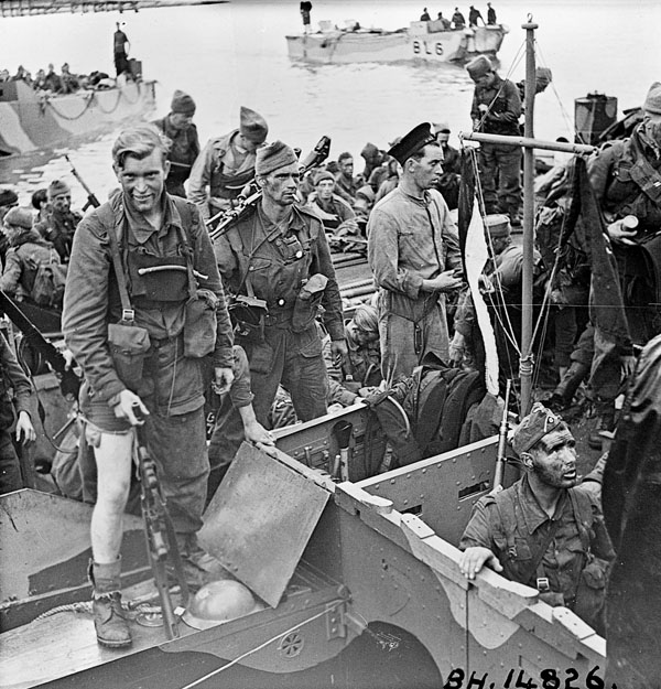 British commandos who took part in Operation JUBILEE, the raid on Dieppe, returning to England, 19 August 1942.