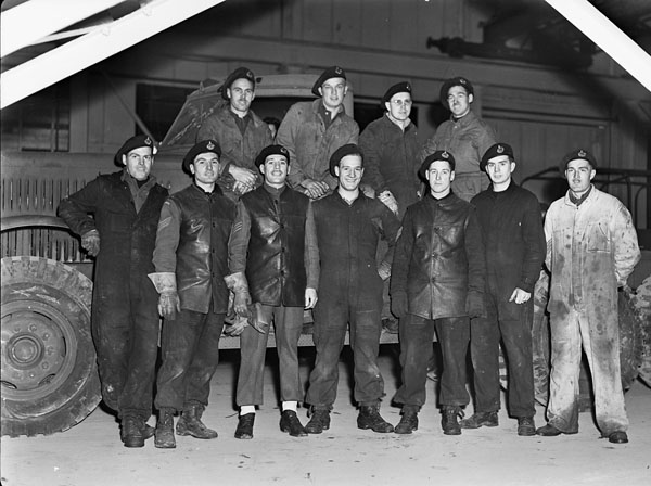 Sergeants of the Essex Regiment, England, 27 January 1944.