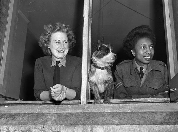 Staff members of the Registrar's Office, Khaki University of Canada, Leavesden, England, 15 April 1946.