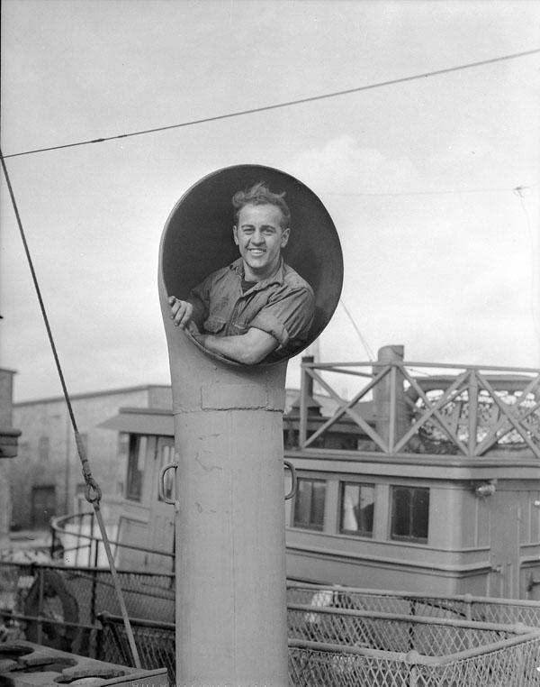 Able Seaman Lévis Leboeuf, Royal Canadian Naval Volunteer Reserve (R.C.N.V.R.), St. John's, Newfoundland, 10 November 1942.