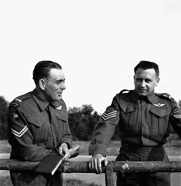 Non-commissioned officers of the 1st Canadian Parachute Battalion, Salisbury, England, 14 May 1944.