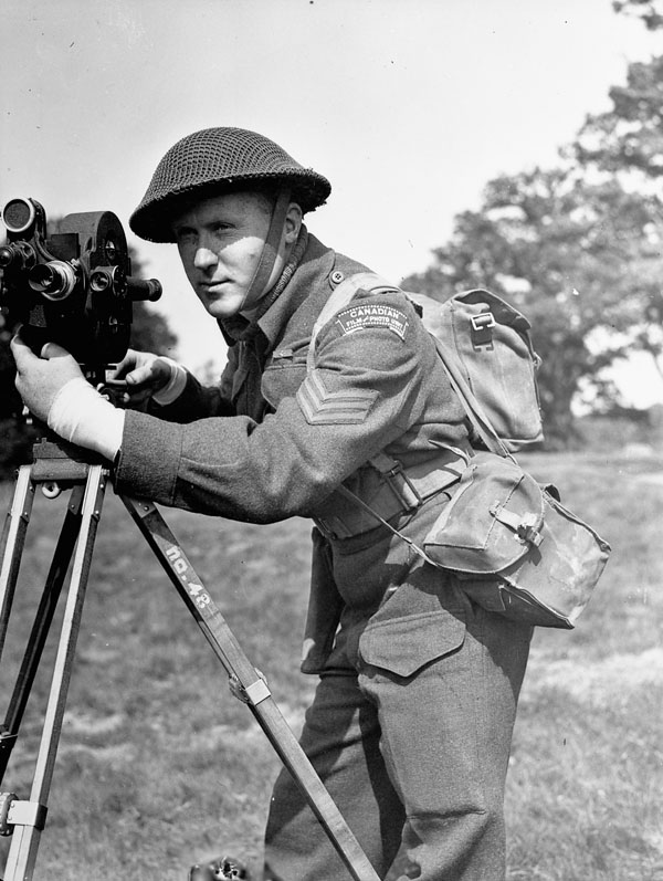 Sergeant Lew E. Weekes, Canadian Army Film and Photo Unit, England, 11 May 1944.