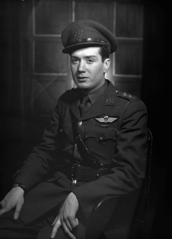 Lieutenant Thibault,  a General List  parachute-qualified officer of the Canadian Army, London, England, ca. 1944.