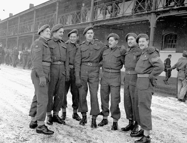 Personnel of No.1 Canadian Special Service Battalion, Aldershot, England, 9 January 1945.