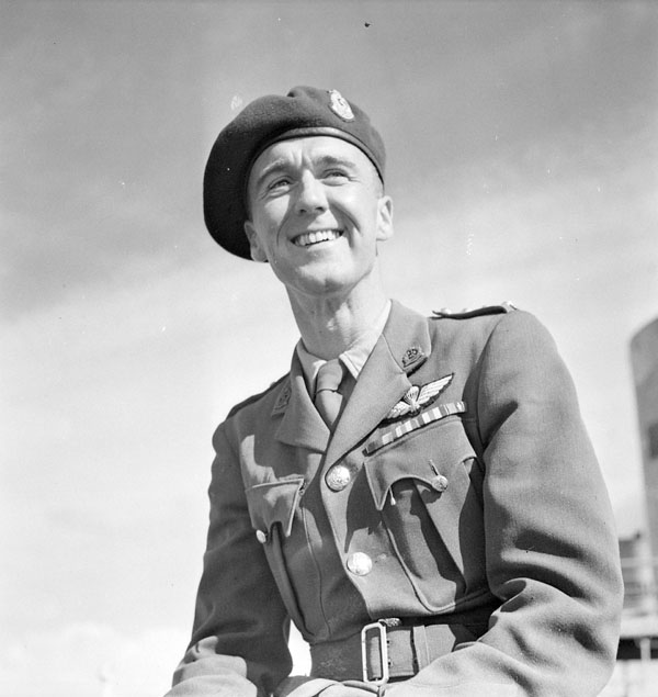 Captain Ashton Kerr, a Canadian CANLOAN medical officer who served with the British 1st Airborne Division (British Army), who is aboard S.S. NIEUW AMSTERDAM en route to Canada for a thirty-day leave period in Montreal, Québec, Canada. ca. 12-16 September 1945.