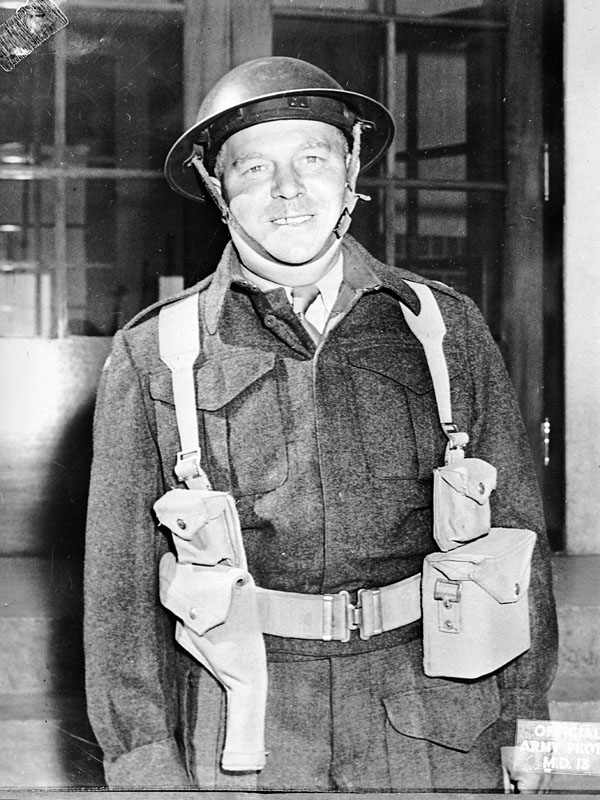 An unidentified officer graduate, No.33 Canadian Army (Basic) Training Centre (Canadian Army Training Centres and Schools), Ottawa, Ontario, Canada, June 1943.