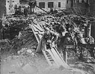 The first German prisoner crossing the Canal de l'Escaut Valenciennes. November, 1918. [187 KB, 1000 X 775]