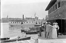 Boat house and boats at Minaki Inn. [73 KB, 760 X 500]