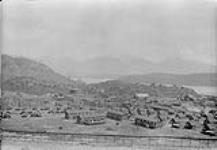 MIKAN 3306675 Town of Anyox, B.C. looking from concentrator towards coke plant. June 1928 [Town of Anyox, B.C. looking from concentrator towards coke plant., June 1928]