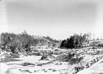 MIKAN 3323968 Brompton Rapids St. Francis River/Rapides Brompton, La rivière Saint-François, dans l'Estrie. 1865. [79 KB, 760 X 541]