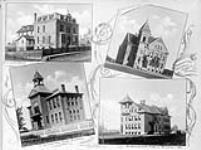 MIKAN 3335262 R.C. Convent; Edmonton Central Public School; Edmonton High School; Strathcona Public School. ca. 1900-1925 [91 KB, 760 X 565]