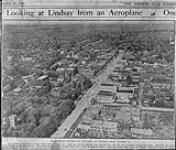 MIKAN 3317616 An Airman's picture of the town Lindsay, [Ont.] from 700 feet up. 1919 [An Airman's picture of the town Lindsay, [Ont.] from 700 feet up., 1919]