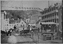 MIKAN 3245751 Lower town market in Quebec. 1852 - 1869 [Lower town market in Quebec., 1852 - 1869]