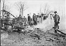MIKAN 3581554 Crash of Tiger Moth - F/O Johnstones. 18 Nov. 1939 [Crash of Tiger Moth - F/O Johnstones., 18 Nov. 1939]