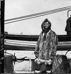 "MIKAN 3407957 B. Mamen aboard H.M.C.S. ""K rluk""Aafter leavingEaving Pt. Barrow, [Alaska], Aug. 1913. 1913 - 1914 [222 KB, 1000 X 1041]"