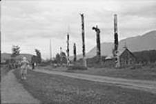 MIKAN 3366567 Totem poles, Kitwanga, B.C. 1948 [Totem poles, Kitwanga, B.C., 1948]