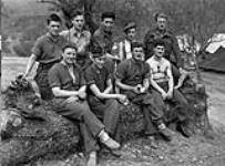 MIKAN 3203934 Members of The Cape Breton Highlanders baseball team at the Snow Haven rest camp, Fornelli, Italy, 2 May 1944. May 2, 1944. [Members of The Cape Breton Highlanders baseball team at the Snow Haven rest camp, Fornelli, Italy, 2 May 1944., May 2, 1944.]