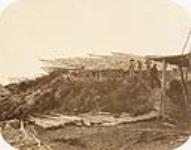MIKAN 3574462 Séchage de la morue sur graves mobiles. 1858. [Séchage de la morue sur graves mobiles., 1858.]