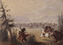 MIKAN 2895280 Bande de wapitis. 1867 [Bande de wapitis., 1867]