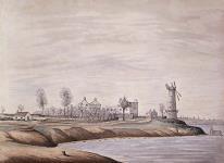 MIKAN 2895096 Site de la bataille du Moulin à vent, Prescott. avril 1839 [Site de la bataille du Moulin à vent, Prescott., avril 1839]