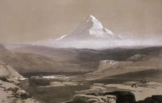 MIKAN 2895355 Mont Hood depuis Les Dalles. ca. 1848 [Mont Hood depuis Les Dalles., ca. 1848]