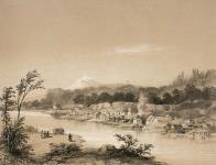 MIKAN 2895351 Le village américain, (la ville d'Oregon) ca. 1848 [Le village américain, (la ville d'Oregon), ca. 1848]