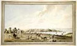 MIKAN 2833206 A View of the City of Quebec with the Citadel and Outworks on Cape Diamond. ca. 1785 [A View of the City of Quebec with the Citadel and Outworks on Cape Diamond., ca. 1785]