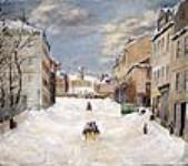 MIKAN 2895803 Scène d'hiver sur la rue George, Halifax. 1875 [Scène d'hiver sur la rue George, Halifax., 1875]