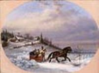 MIKAN 2837655 Habitant driving sleigh  1860. [53 KB, 640 X 476]