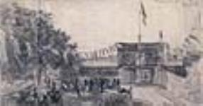 MIKAN 2833350 Reception at Winnipeg. Mr. Cauchon's Garden Party at Fort Garry,. August 4, 1881 [Reception at Winnipeg. Mr. Cauchon's Garden Party at Fort Garry,., August 4, 1881]