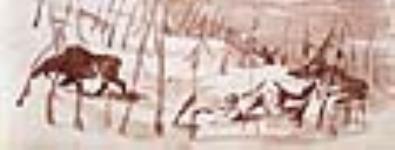MIKAN 2896738 Ma culbute dans la neige et la fuite de l'orignal, rivière Saint-Maurice. mars 18, 1842 [43 KB, 640 X 243]