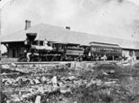 MIKAN 3402414 Northern Railway of Canada - the first train into Meaford, Ont.  [Northern Railway of Canada - the first train into Meaford, Ont.]