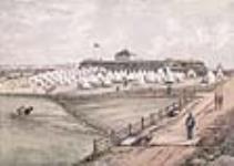 MIKAN 2896878 Camp de la milice au fort Wellington, à Prescott, Ontario. ca 1870 [64 KB]