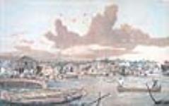 MIKAN 2897032 Établissement à Sault Ste. Marie (Ontario), et canal à l'arrière-plan  1869 [52 KB, 640 X 401]