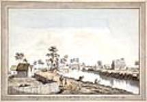 MIKAN 2894470 A View of the Bridge over the Berthier River. 1785 [A View of the Bridge over the Berthier River., 1785]