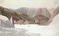 MIKAN 2898031 Le fleuve Columbia en amont des rapides de Sioux Island, Washington. 21 août, 1845 [44 KB, 640 X 394]