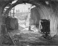 MIKAN 2894910 Interior of a Pill Box, Flanders [Intérieur d'une casemate, Flandres]. 1920 [122 KB, 760 X 604]